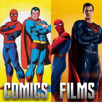 Batman, Memes, and Spider: COMICS FILMS Just in case you didn't notice my last post was a nod to this classic image of Spider-Man and superman! 👏👏👏👏👏👏👏👏👏👏 Also quick shoutouts to @mcu.webhead 👍👍 go give them a follow! . . . What do you think?🤔 Feel free to comment and share just give credit! . . . . . . . . . . . . . justiceleague peterparker batman superman flash cyborg aquaman benaffleck milesmorales clarkkent galgadot venom bvs batmanvsuperman manofsteel spidermanps4 wonderwoman dc dceu dccomics spiderman spidey ironman tomholland spidermanhomecoming marvel mcu andrewgarfield samraimi crossover