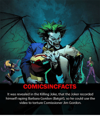 This is what I think happened when sexual assault was inferred. Joker really is sick 😷! Please Turn On Your Post Notifications For My Account😜👍! - - - - - - - - - - - - - - - - - - - - - - - - Batman Superman DCEU DCComics DeadPool DCUniverse Marvel Flash MarvelComics MCU MarvelUniverse Cosplay DeathStroke JusticeLeague StarWars Spiderman Ironman Batman Logan TheJoker Like4Like L4L WonderWoman DoctorStrange Flash JusticeLeague WonderWoman Hulk Disney CW DarthVader Tonystark Deadshot Joker: COMICSIN CFACTS  It was revealed in the Killing Joke, that the Joker recorded  himself raping Barbara Gordon (Batgirl), so he could use the  video to torture Comissioner Jim Gordon. This is what I think happened when sexual assault was inferred. Joker really is sick 😷! Please Turn On Your Post Notifications For My Account😜👍! - - - - - - - - - - - - - - - - - - - - - - - - Batman Superman DCEU DCComics DeadPool DCUniverse Marvel Flash MarvelComics MCU MarvelUniverse Cosplay DeathStroke JusticeLeague StarWars Spiderman Ironman Batman Logan TheJoker Like4Like L4L WonderWoman DoctorStrange Flash JusticeLeague WonderWoman Hulk Disney CW DarthVader Tonystark Deadshot Joker