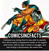 What do you think of Colossus in Deadpool, and how would you rate him?! Please Turn On Your Post Notifications For My Account😜👍! - - - - - - - - - - - - - - - - - - - - - - - - Batman Superman DCEU DCComics DeadPool DCUniverse Marvel Flash MarvelComics MCU MarvelUniverse Netflix DeathStroke JusticeLeague StarWars Spiderman Ironman Batman Logan TheJoker Like4Like L4L WonderWoman DoctorStrange Flash JusticeLeague WonderWoman Hulk Disney CW DarthVader Tonystark Wolverine: COMICSINCFACTS  Colossus is so strong that he was able to casually  lift a 35 ton piece of equipment (while in his organic  steel form), with no sign of strain or struggle, and  was having a conversation the entire time. What do you think of Colossus in Deadpool, and how would you rate him?! Please Turn On Your Post Notifications For My Account😜👍! - - - - - - - - - - - - - - - - - - - - - - - - Batman Superman DCEU DCComics DeadPool DCUniverse Marvel Flash MarvelComics MCU MarvelUniverse Netflix DeathStroke JusticeLeague StarWars Spiderman Ironman Batman Logan TheJoker Like4Like L4L WonderWoman DoctorStrange Flash JusticeLeague WonderWoman Hulk Disney CW DarthVader Tonystark Wolverine