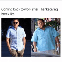 Memes, 🤖, and Come Back: Coming back to work after Thanksgiving  break like  @fuckjer