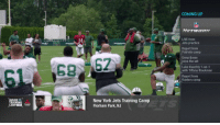Memes, New York, and New York Jets: COMING UP  LIVE from  Jets practice  Report fronm  Patriots camp  Drew Brees  joins the set  Luke Kuechly 1-on-1  with Tiffany Blackmon  Report from  Raiders camp  SIDE-  RAINING  New York Jets Training Camp  Florham Park, NJ  CAMP They're clapping him in as Sam Darnold hits the field after signing his @nyjets contract! #NFLTrainingCamp https://t.co/CxrEOPYNId