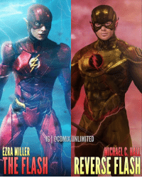 Memes, Best, and Michael: @COMIX.UNLIMITED  EZRA MILLER  CUREL  THE FLASH REVERSE FLASH Do you think Michael C. Hall would be the best choice to play Reverse Flash? ⬇️Comment Below⬇️