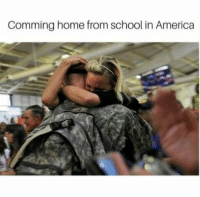 comming: Comming home from school in America