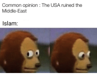 Common, Islam, and The Middle: Common opinion : The USA ruined the  Middle-East  Islam: