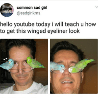 Nailed it 😂😂👌🏻 @x__antisocial_butterfly__x @x__social_butterfly__x @lola_the_ladypug @antisocialtv: common sad girl  @sadgirlkms  hello youtube today i will teach u how  to get this winged eyeliner look Nailed it 😂😂👌🏻 @x__antisocial_butterfly__x @x__social_butterfly__x @lola_the_ladypug @antisocialtv