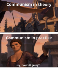 Hows It Going: Communism in theory  Communism in practice  Hey, how's it going?