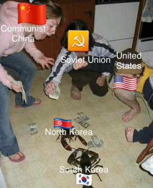Korean war in one picture: Communist  China  United  States  Soviet Union  B North Korea  South Korea Korean war in one picture