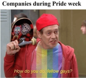 How Do You Do Fellow: Companies during Pride week  How do you do, fellow gays?