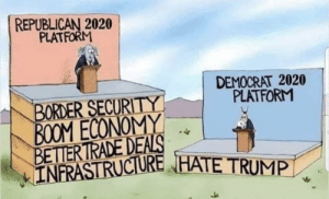 Complain about liberal agenda or say all we do is hate trump, you can't have both.: Complain about liberal agenda or say all we do is hate trump, you can't have both.