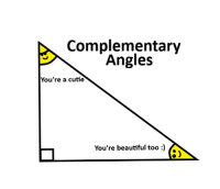 """<p>Complementary Angles via /r/wholesomememes <a href=""""http://ift.tt/2H5IZPM"""">http://ift.tt/2H5IZPM</a></p>: Complementary  Angles  You're a cutie  You're beautiful too) <p>Complementary Angles via /r/wholesomememes <a href=""""http://ift.tt/2H5IZPM"""">http://ift.tt/2H5IZPM</a></p>"""