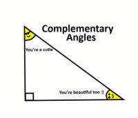 Complementary: Complementary  Angles  You're a cutie  You're beautiful too)