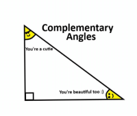 https://t.co/OpKPcIGZwb: Complementary  Angles  You're a cutie  You're beautiful too)  8) https://t.co/OpKPcIGZwb