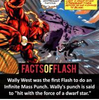"Batman, Facts, and Memes: COMPRESSED  PHOTONS.  LIGHT. E COULD HIT HIM  A THOWS AND TIMES  BEFORE HE HAD A CHANCE  TO BLINK  FACTSOFFLASH  Wally West was the first Flash to do ain  Infinite Mass Punch. Wally's punch is said  to ""hit with the force of a dwarf star."" ⚡️⚡️ - The Infinite Mass Punch! - (putting old facts in the new layout) - My other IG Accounts @facts_of_heroes @webslingerfacts @yourpoketrivia ⠀⠀⠀⠀⠀⠀⠀⠀⠀⠀⠀⠀⠀⠀⠀⠀⠀⠀⠀⠀⠀⠀⠀⠀⠀⠀⠀⠀⠀⠀⠀⠀⠀⠀ ⠀⠀------------------------ blackflash lindapark batman johnfox maxmercury impulse inertia professorzoom danielwest godspeed savitar flashcw theflash hunterzolomon therogues flashcw justiceleague wallywest eobardthawne grantgustin ezramiller like4like batmanvsuperman bartallen zoom flash barryallen youngjustice jaygarrick"