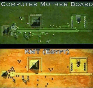 Egypt or Computer Motherboard: COMPUTER MOTHER BOARD  KMT (EGYPT Egypt or Computer Motherboard