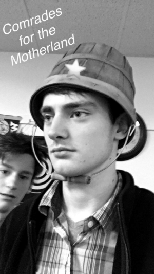Soviet, Stalingrad, and German: Comrades  for the  Motherland Soviet officer inspires his troops moments before rushing German lines in Stalingrad (c. 1942)