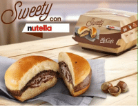 Memes, Limited, and Nutella: Con clay  nutella Well This is Different  Maccas Released a Nutella Burger For a Limited Time Only👌😋 Would you try it ?