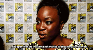 Life, Target, and Tumblr: CON  who spent her life watching other folks do those types of stories!  c myfriendamy: Danai Gurira on being cast in Marvel's Black Panther (x)
