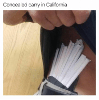 California, Concealed Carry, and Carry: Concealed carry in California