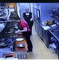 """CONCEALED CARRY WINS AGAIN! Newly-released video (attached) from inside the George Webb restaurant at S. 21st and W. Mitchell St. shows an adult male go behind the counter to approach and punch a female manager-waitress in the face. Alderman Bob Donovan, who obtained the video footage yesterday, said the incident took place last week. He said he hopes the public can help the Milwaukee PoliceDepartment locate the suspect as soon as possible. """"It is sickening to see this unsuspecting worker assaulted so brutally by this individual,"""" said Alderman Donovan, chair of the Public Safety and Health Committee. Alderman Donovan said MPD is actively seeking a known individual but also welcomes additional information from the community that might help the case. """"It was an unprovoked attack and I am asking anyone with information to please contact MPD immediately at 414-935-7360 so we can get him off the street and behind bars where he belongs,"""" he said. The video shows a George Webb co-worker pointing a firearm at the suspect to get him away from the victim. Alderman Donovan said the co-worker – who he was told has a concealed carry permit for the firearm – was successful in getting the suspect to leave the premises. """"One can only imagine what might have occurred if that employee had not pulled out her weapon,"""" the alderman said. """"Sadly, I'm told the co-worker quit her job shortly after the incident."""" """"And can you really blame her for quitting? This is just sickening and I am tired of this crap happening in my district and in too many other neighborhoods across Milwaukee,"""" he said. Alderman Donovan said the victim is facing thousands of dollars in medical bills to treat her injuries and does not have insurance. """"This woman is struggling to just eek out a living and has this idiot attack her for no reason,"""" he said. """"I am told the attacker has an extensive criminal record – surprise, surprise – another glaring indictment of our criminal justice system!"""" Alderman Donovan said. """"A"""