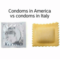 More Italian jokes 4 u: Condoms in America  vs condoms in Italy More Italian jokes 4 u