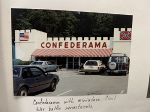 I found this in an old scrapbook left at my university.: CONFEDERAMA  Murk  Contedevama with miniature Civil  Wor battle renactments. I found this in an old scrapbook left at my university.