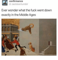 Memes, Fuck, and The Middle: confirmance  zackisontumblr  Ever wonder what the fuck went down  exactly in the Middle Ages Whats even going on here via /r/memes https://ift.tt/2Bl2NzV