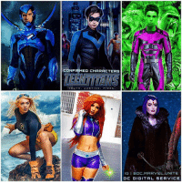 Memes, Live, and Marvel: CONFIRMED CHARACTERS  IGIBOC.MARVEL UNITE  DC DIGITAL SERVICE The Official TeenTitan Characters to Appear in the Upcoming DCTV Show ' TITANS' Coming to a DCDigitalService have been Revealed ! 😱 The LineUp is NightWing ( DickGrayson), BlueBeetle ( JaimeReyes), BeastBoy, Tara, StarFire and Raven Along with BumbleBee ! I CAN'T BELIEVE WE'RE GETTING A LIVE ACTION TEENTITANS TV SHOW ! Not sure if it's in TheCW Universe or The DCEU Tho ! DCExtendedUniverse