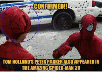 WAIT WHAT 😱😱😂😂😂😂: CONFIRMEDI!  TOM HOLLAND'S PETER PARKER ALSO APPEARED IN  THE AMAZING SPIDER-MAN 2!! WAIT WHAT 😱😱😂😂😂😂