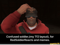 Visible Confusion: Confused soldier, (my Tf2 layout), for  Red SoldierReacts and memes.  ifunny.CO
