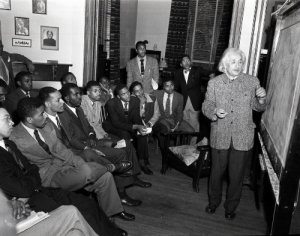"congenitaldisease:  In the twenty years before Albert Einstein died, he very rarely accepted invitations to speak at universities. In 1946, however, he accepted an invitation to Lincoln University in Pennsylvania which was the first school in America to grant college degrees to African American students. During his speech, he spoke about his disgust at racism in America. He said that racism is ""a disease of white people"" adding that he does ""not intent to be quiet about it."" And quiet he was not; throughout his life, he open spoke about racial injustice as well as antisemitism. : congenitaldisease:  In the twenty years before Albert Einstein died, he very rarely accepted invitations to speak at universities. In 1946, however, he accepted an invitation to Lincoln University in Pennsylvania which was the first school in America to grant college degrees to African American students. During his speech, he spoke about his disgust at racism in America. He said that racism is ""a disease of white people"" adding that he does ""not intent to be quiet about it."" And quiet he was not; throughout his life, he open spoke about racial injustice as well as antisemitism."