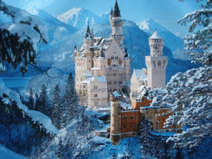 Tumblr, Blog, and Germany: congenitaldisease:  Neuschwanstein Castle is a 19th century Roman castle located near Bavaria in Germany. It's one of the most spectacular looking castles in the whole world due to the fact that it is surrounded by the landscape of the Apls, making it look like it belongs in a fairytale.