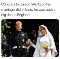 https://t.co/xbB0wLZzxC: Congrats to Carson Wentz on his  marriage, didn't know he was such a  big deal in England https://t.co/xbB0wLZzxC