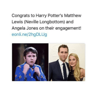 today has been a mess omg: Congrats to Harry Potter's Matthew  Lewis (Neville Longbottom) and  Angela Jones on their engagement!  eonli.ne/2hgDLUg today has been a mess omg