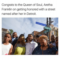 Detroit, Memes, and Aretha Franklin: Congrats to the Queenof Soul, Aretha  Franklin on getting honored with a street  named after her in Detroit.  Aretha rankiin