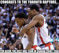👏🏽👏🏽👏🏽👏🏽 dwat: CONGRATS TO THE TORONTO RAPTORS...  @NBAMEMES  FOR BEING THE BEST NBA TEAM IN CANADA EVERY YEAR 👏🏽👏🏽👏🏽👏🏽 dwat