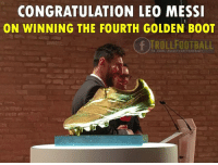 Congratulation Leo Messi 👏: CONGRATULATION LEO MESSI  ON WINNING THE FOURTH GOLDEN BOOT  tb.com/RealITrolIFootba Congratulation Leo Messi 👏
