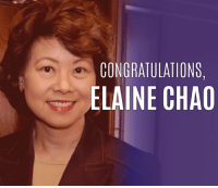 Memes, 🤖, and Senate: CONGRATULATIONS,  ELAINE CHAO Today, the Senate confirmed Elaine Chao as our 18th Secretary of Transportation. Share to say congrats!