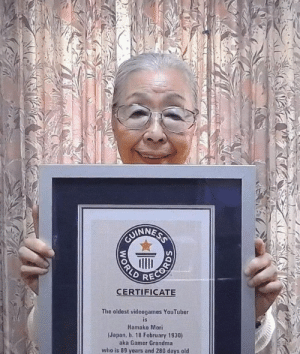 Congratulations to Hamako Mori aka Gamer Grandma from Japan, who at 90 years old is the oldest video gaming creator on YouTube, according to Guinness World Records. https://t.co/P42PkwBKig: Congratulations to Hamako Mori aka Gamer Grandma from Japan, who at 90 years old is the oldest video gaming creator on YouTube, according to Guinness World Records. https://t.co/P42PkwBKig
