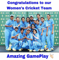 Amazing winning streak 🇮🇳 Superb allround performance 👏🏻 ProudIndian WinTheCup 🏆 . Cricket is not just about men, they equally deserve our support 🇮🇳👌🏻: Congratulations to our  Women's Cricket Team  CAN LIVE  CAN  CAN  CAN  CAN  CAN  CAN  CAN  CAN  CAN  CAN  Amazing GamePlay Amazing winning streak 🇮🇳 Superb allround performance 👏🏻 ProudIndian WinTheCup 🏆 . Cricket is not just about men, they equally deserve our support 🇮🇳👌🏻