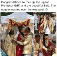 Beautiful, Memes, and Congratulations: Congratulations to the HipHop legend  Professor Griff, and the beautiful Solè. The  couple married over the weekend.