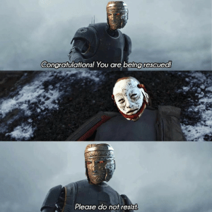 """Memes, Appreciate, and Congratulations: Congratulations! You are being resCued!  Please do not resist There is a new asshole mod in r/forhonor who removed all my recent memes due to """"low effort"""" even tho I'm certain people would disagree with that. Here is one of my latest ones. At least people here can appreciate it"""