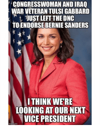 Bernie Sanders, Black Lives Matter, and Love: CONGRESSWOMAN ANDIRAQ  WAR VETERAN TULSI GABBARD  t JUST LEFT THE ONC  TOENDORSE BERNIE SANDERS  WITHINK WERE  LOOKING AT OUR NEXT  VICEPRESIDENT  img flip-com Wow! Breaking news... Would love to have her OR Warren! 🌟 ––––––––––––––––––––––––––– 👍🏻 Turn On Post Notifications! 📝 Register To Vote 📢 Raise Awareness For Our Revolution 💰 Donate to Bernie ––––––––––––––––––––––––––– FeelTheBern DemDebate BernieSanders Bernie2016 Hillary2016 GopDebate Obama HillaryClinton President BernieSanders2016 pokemon20 StephCurry oscars Vegan justiceforflint centralpark pannyparty gobruins theamerican leapyear BlackLivesMatter PoliticalRevolution SuperTuesday –––––––––––––––––––––––––––