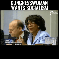 CONGRESSWOMAN  WANTS SOCIALISM  TURNING  POINT USA  FOX  WS NS  channel | WHOA! Maxine Waters Calls For Socialism! #SocialismSucks
