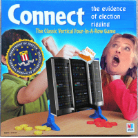 rigging: Connect  the evidence  of election  rigging  The Classic Vertical Four-In-A-Row Game  T OF JUS  BUREAU  131111  MB  MILTON  BRADLEY  AGES 7 and Up
