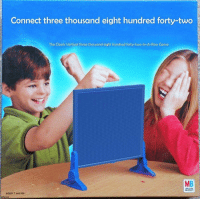 Game, Irl, and Three: Connect three thousand eight hundred forty-two  The Classic Vertical three thousand eight hundred forty-two-In-ARow Game  MB  MILTON  BRADLEY  AGES 7 and Up  gotpizzca