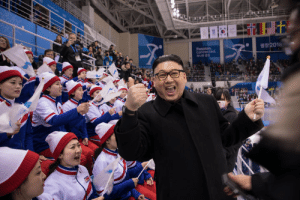 North Korean dictator Kim Jong Un makes surprise visit to the South Korean winter Olympics. 2018: Connected North Korean dictator Kim Jong Un makes surprise visit to the South Korean winter Olympics. 2018