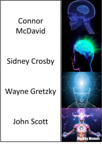 Hockey, John Scott, and Scott: Connor  McDavid  Sidney Crosby  Wayne Gretzky  John Scott  Hockey Memes - Shadius