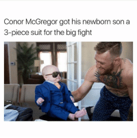 ootd 😍 Follow me @peopleareamazing for the cutest posts: Conor McGregor got his newborn son a  3-piece suit for the big fight ootd 😍 Follow me @peopleareamazing for the cutest posts