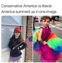 Pretty much @too_savage_for_democrats: Conservative America vs liberal  America summed up in one image. Pretty much @too_savage_for_democrats