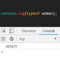 Cool, Javascript, and Top: console.log(typeof woman);  RElements Console  top  object Come on JavaScript, not cool.